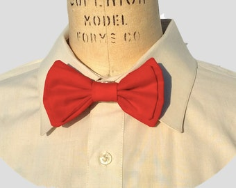 Red Handmade Double Bow Tie