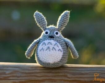 Amigurumi Totoro - Crochet Totoro - Handmade totoro - Grey Totoro - Big totoro - Plush totoro - Doll totoro - Totoro amigurumi - Totoro doll