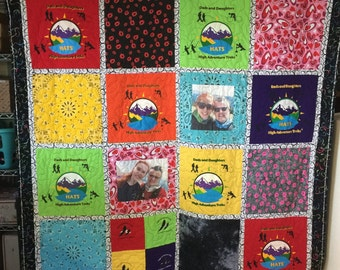 Memory Quilt Custom Made - Memory Quilt Made From 9 - 49 t-shirts