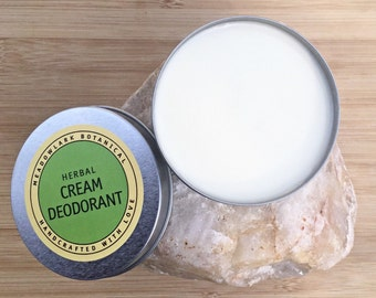 Natural Deodorant | Probiotic Deodorant | Organic Deodorant | Vegan Deodorant Cream | Deoderant for Men & Women | Sensitive Skin Safe