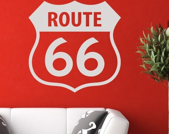 Route 66 Sign Wall Art Sticker (AS10035)