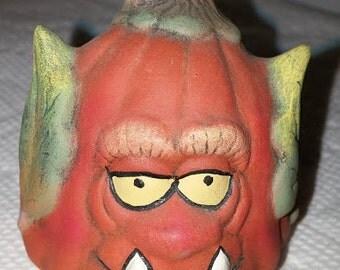 Scary Ceramic Pumpkin