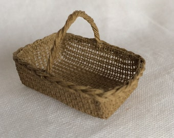 1:12th Scale Dollshouse Miniature Rectangular Shopping Basket