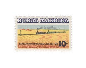 Qty of 10 - 1974 Unused Vintage Postage Stamp - Rural America - No. 1506