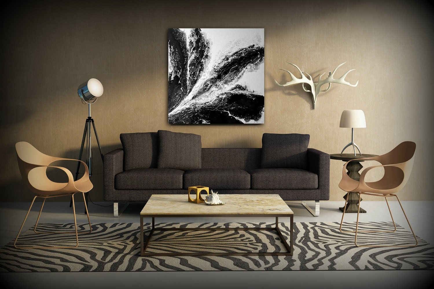 Square Wall Art Abstract Painting Acrylic Paintings XL
