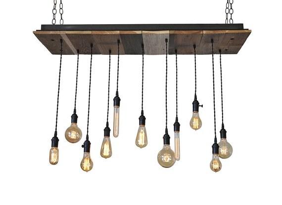 reclaimed wood light fixture pendant chandelier kitchen island. Black Bedroom Furniture Sets. Home Design Ideas