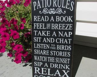 Porch rules sign - Patio rules sign -Porch rules - Wood Sign - Patio Rules - Porch Sign - Outdoor Sign - front porch Decor - Patio Decor
