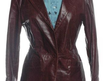 Vintage 1970's Burgundy Leather Jacket 12 - www.brickvintage.com