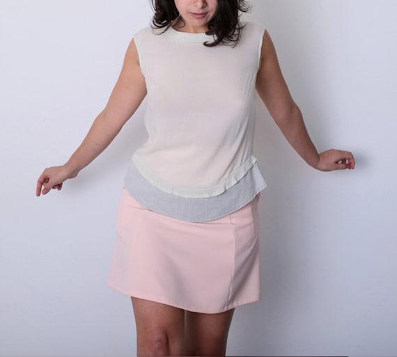 Summer sale beige blouse minimalist by