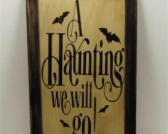 Wood Halloween Sign, Halloween Decoration, Halloween Bat Sign, Halloween, Haunted Sign, Haunting Sign, Halloween Party Decor, Halloween Art
