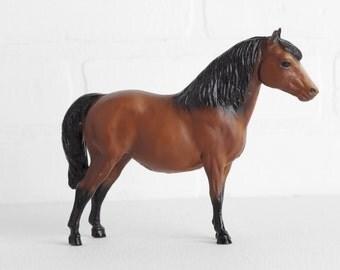 Vintage Breyer 1970s Bay Shetland Pony Model Horse, Toy Horse Figurine, Brown and Black, Breyer Horse Decor