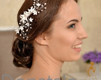 Wedding Hair Comb Bridal Hair Comb Bridal Headpiece Wedding  Head piece  Bridal head piece  Bridal hair accessories-BIANCA