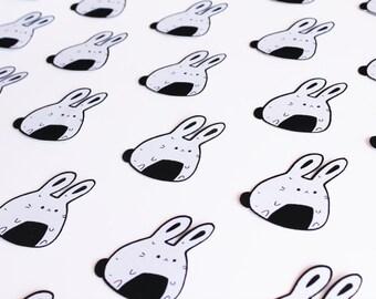 Onigiri Bunny Patch, Sew On, kawaii, j fashion, japanese, harajuku style, pastel goth accessories