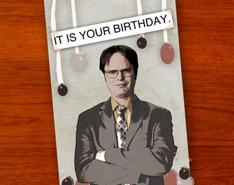 Dwight Schrute (The Office) Birthday Card
