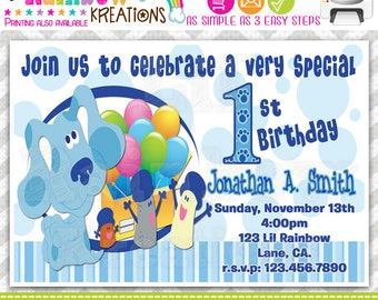 144: DIY - Blues Clues 3 Party Invitation Or Thank You Card