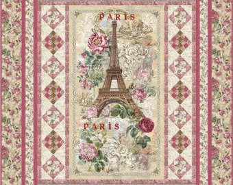 "Paris Rendezous Quilt Kit 59"" x 75"""