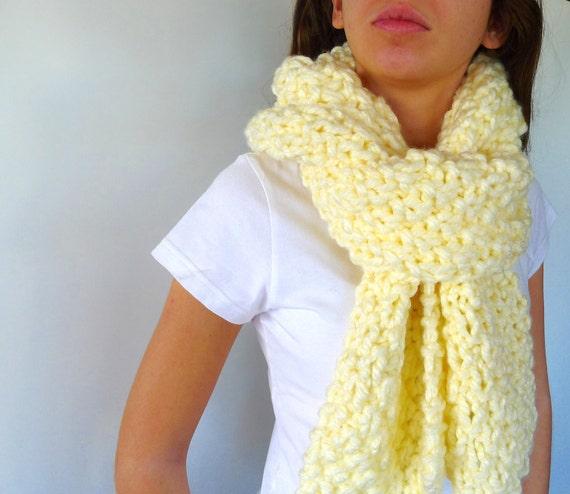 Bufanda a dos agujas. Punto bufanda lana gruesa. Bufanda punto para mujer. Bufandas