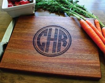 monogram cutting board  etsy, Kitchen design