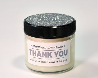 Thank You Gift, Wood Wick Jar Candle, Party Favor, Company Corporate Gift, Customizable Color, Favor Candle, Small Candle, Votive Jar