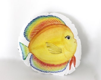Fish sea plush. Fish soft toy. Fish pillow. Nursery decor. Nautical Ocean Under the Sea nursery. Tropical fish stuffed animal. Gift for kids