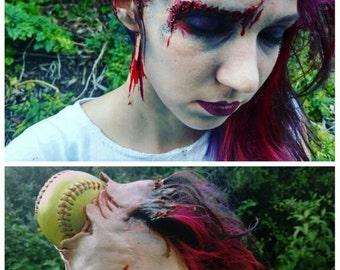 Softball Zombie Halloween Prosthetic