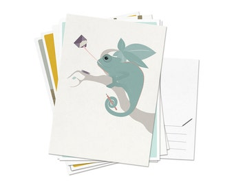 Postcards - Set of 6 different animals / A6 - 4.13 x 5.83""