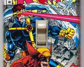 X-Men Light Switch Cover Plate - X-Men 1 Wolverine Cyclops Marvel Comics