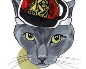 """Pet Portrait - Custom - 5x7"""" Color Painting - 1 pet"""