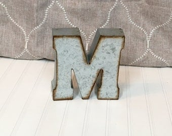Metal Letters/Metal Letter/Letter M/7 inch letter/Wall Letter/Small Metal Letter/Wedding Decor/Rustic/Industrial/Industrial/Farmhouse