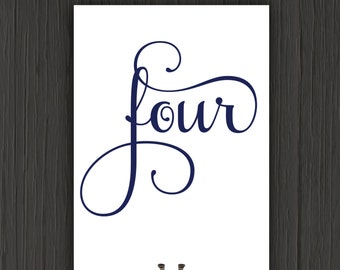 Table Numbers-Wedding Table Numbers-Printable Wedding Table Numbers-Table Number Template-DIY Table Numbers-Instant Download