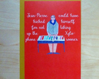 Funny self help card. Positive affirmation card. funny birthday card- New Years resolution card  - blank inside, 100% recycled