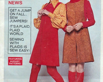 1969 Simplicity Fashion News Booklet Jumpers Plaid Suits