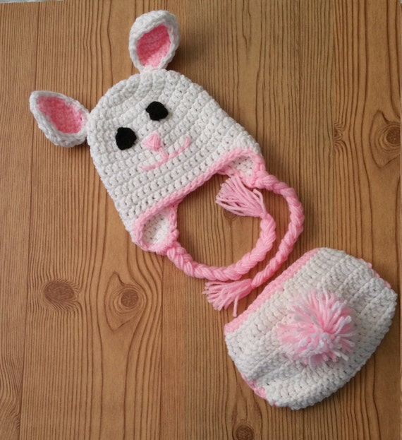 Crochet Pattern Bunny Hat And Diaper Cover Dancox For