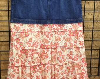 Women's long denim skirt, size 13