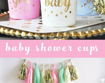 Its a Girl Baby Shower Decorations for Girl - Pink Baby Shower Cups - Girl Baby Shower Ideas  (EB3104BB) - set of 25 CUPS