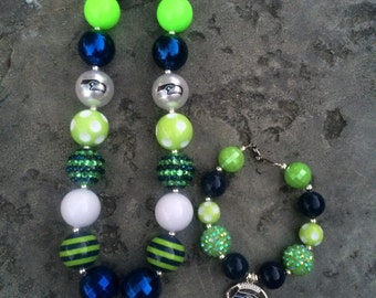 NFL Seatle Seahawks Necklace/Bracelet