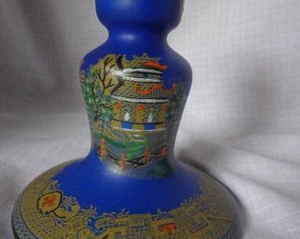 """Rare John Tams """"Jewelled Pagoda"""" Ceramic Candlestick"""