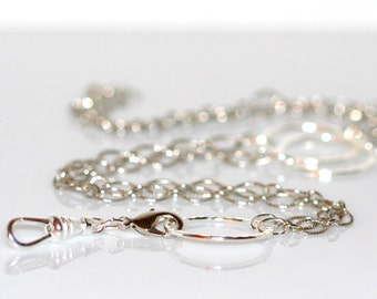 Elegant Silver ID-Badge Holder Eyeglass Necklace. My Most Versatile Lanyard!