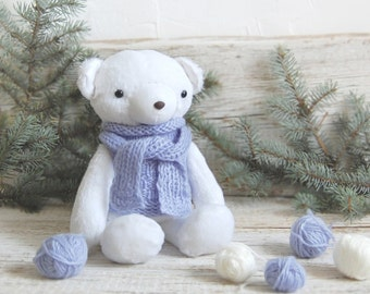 Polar White Bear - Plush Teddy Bear - Stuffed Animal Bear - Cute Soft Toy - Gift for Children