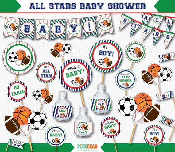sports baby shower all star baby shower sports baby shower