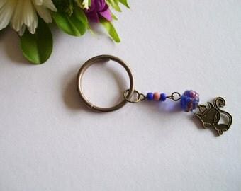 Key ring keychain charm beaded pendant charm bag charm purse charm zipper puller handbag accessory house warming gift for her socks stuffer