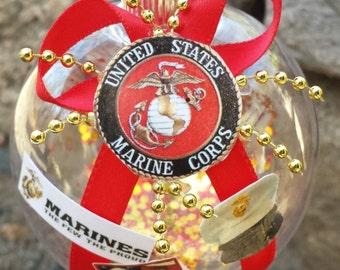 US Marines Christmas Ornament - USMC - The Few The Proud - US Marine Corps