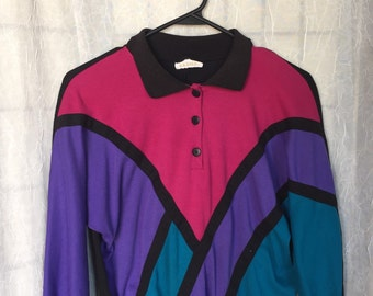 Cotton Colorblock 90's Sweater