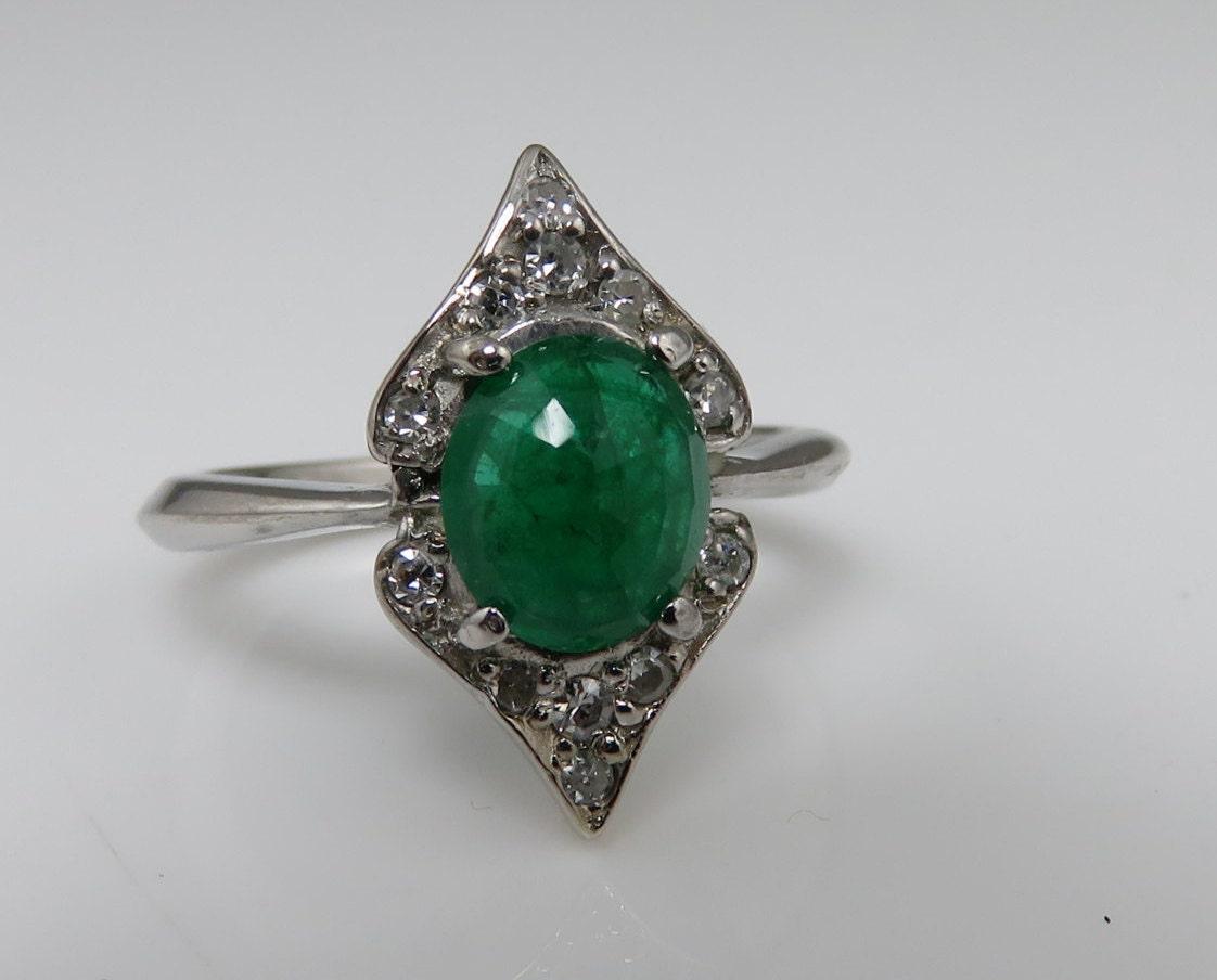 sold to estate deco 14k emerald ring estate