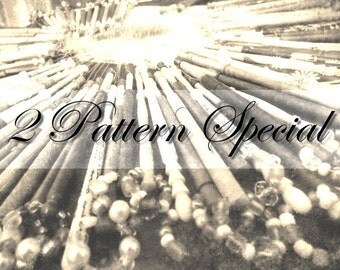 2 Pattern Special. Little Poppy and Luz. Instant download PDF. Bobbin lace.