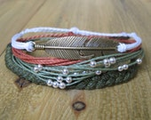 Feather Earth Set of Waxed Polyester Bracelets