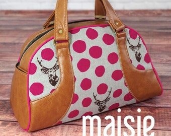 Maisie Bowler Handbag Pattern by Swoon Sewing Patterns; SWN016; DIY Handbag; Sewing Pattern; OPTIONAL: Add a Swoon metal tag