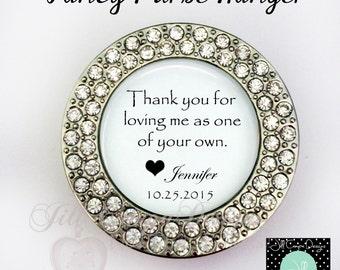 Stepmom wedding gift, Purse Hanger, Stepmother of the Bride, Stepmom gift, stepmom, purse hook, custom purse holder, folding purse hanger