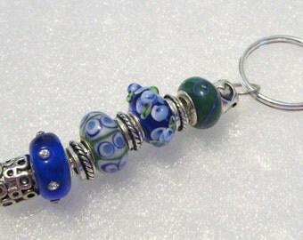 986 - Beaded Key Ring
