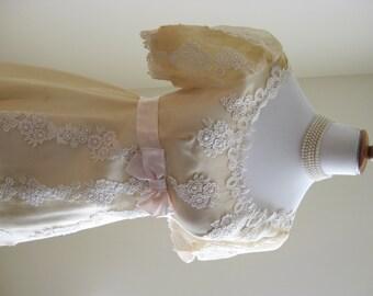 BREATHTAKING True Vintage Wedding Gown/PRINCESS Wedding Gown/Ivory Gown/30s Wedding Gown/50s Wedding Gown